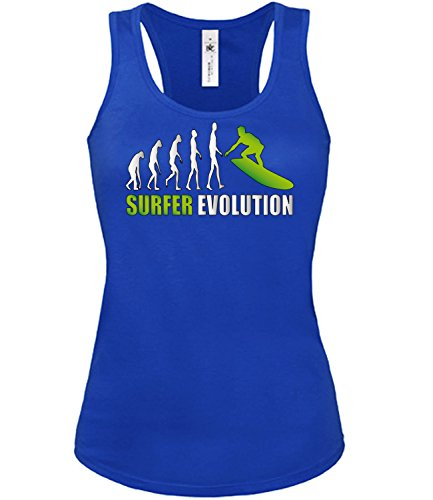 SURFER EVOLUTION mujer camiseta Tamaño S to XXL varios colores S-XL Azul / Blanco
