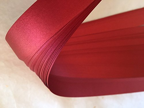 German Moravian Star Strip Weaving Papers, 50 Pack, Shimmer Red Satin (3/4 ()