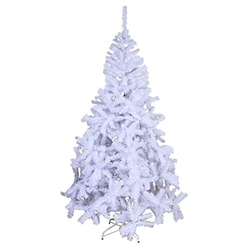 OurWarm Christmas Tree White 7FT PVC Christmas Tree for Holiday Decorations