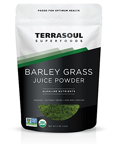 Grass Juice Powder Usa Barley - Terrasoul Superfoods Barley Grass Juice Powder (Organic), 5 ounce