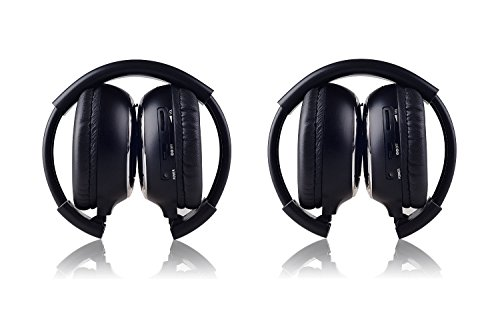 (Crusar 2-Pack IR Wireless Two-Channel Foldable Headphones for Car)