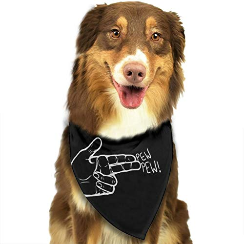 OURFASHION Emoji Gesture Bandana Triangle Bibs Scarfs Accessories for Pet Cats and Puppies.Size is About 27.6x11.8 Inches -