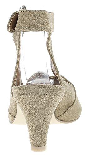 Sandalen Sandalette Absatz Beige Damen 3003420 HIRSCHKOGEL 4B0nw5t5q