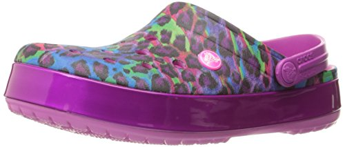 crocs Unisex Crocband Animal Ii Clog Mule,  Party Pink, 7 US Men's / 9 US Women's