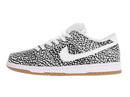 Mens Nike Dunk Low Pelle Premium Caviglia-alto Modo Sneaker Bianco