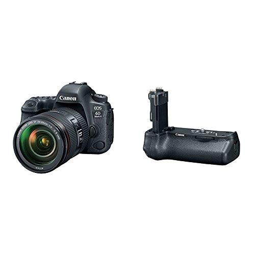 Canon EOS 6D Mark II Digital SLR Camera with EF 24-105mm USM Lens + Battery Grip
