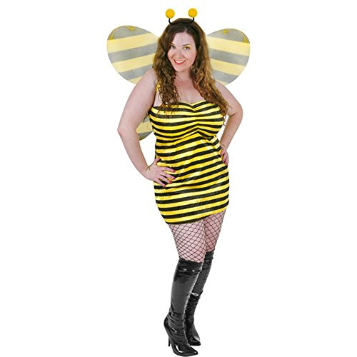 Sexy Bumble Bee Costume - Plus Size Sexy Bumble Bee Costume (Size: 16-18)