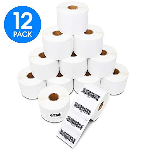 "Aegis Labels - 12 Rolls DYMO 30334 Compatible UPC Barcodes FBA 2-1/4"" X 1-1/4"" Multipurpose Replacement Labels for LW Labelwriter 450, 450 Turbo, 4XL (1000/Roll)"