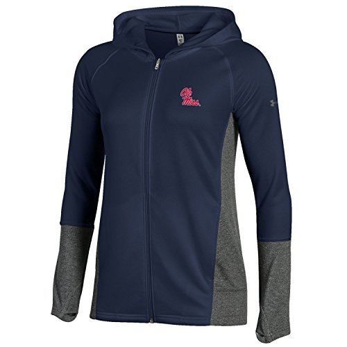 Under Armour NCAA Mississippi Old Miss Rebels Adult Women Women's French Terry Full-Zip, XX-Large, Navy