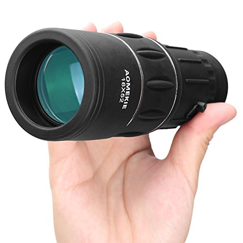 Aomekie 16×52 Monocular Telescope Compact Handhled Dual Focus Optics Scope for Adults Kids Hunting Birdwatching Golf Camping Sports and Concert.