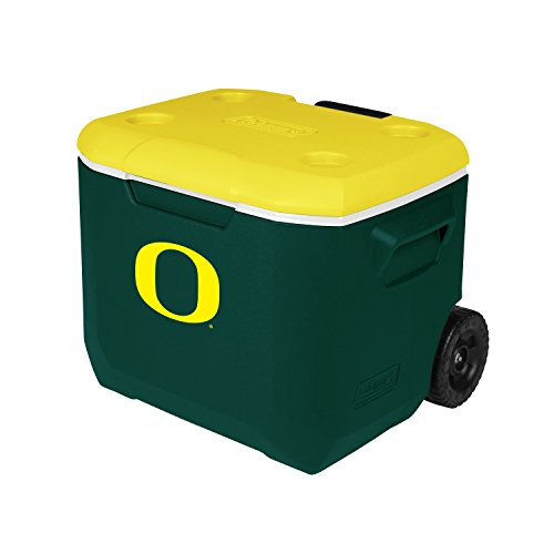 Coleman Company Oregon Ducks - University of Oregon Performance Cooler, 60 quart, Green/Yellow (Oregon Ducks Tailgate Cooler)