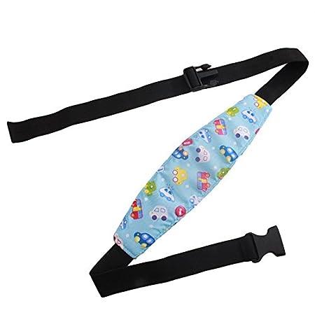 soporte para cabeza de coche azul azul Talla:peque/ño Soporte de seguridad ajustable para el cuello y el asiento del coche para beb/é cintur/ón de sue/ño para beb/és y beb/és
