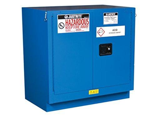 Justrite 862328 Undercounter Hazardous material Steel Safety Cabinet, 22 gal, Steel, Blue - Justrite Blue Safety Storage Cabinet