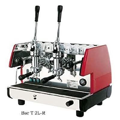 La Pavoni BAR T 2L-R Model Bar T 2L Lever Espresso Coffee Machine with Chromed Brass Groups with Mechanical Movement, Ruby Red, Manual boiler water charge button, Anti-vacuum valve, Manometer for the boiler pressure control