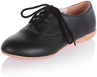 Njx/femme Chaussures Talon Plat Confort/Bout Rond Oxfords Robe/décontracté Noir/rose/blanc MJKIK