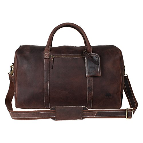 Rustic Crazy Horse Leather Duffel product image