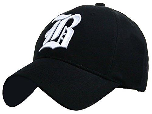 4sold - Gorra de béisbol - para hombre black B white