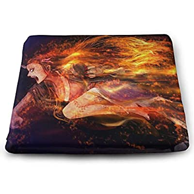 Demon Slayer Square Cushion Thick Large Soft Mat Floor Pillow Seating for Home Decor Garden Party for Chair Pads 15x13.7x1.2Inch: Office Products