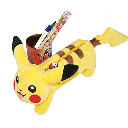 Costume Props Cartoon Anime Pokemon Pikachu Plush Toy Fashion Creative Dark Pikachu Sitting Position Plush Doll Child Birthday Present Elegant In Smell