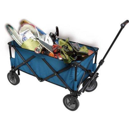 Ozark Trail Folding Wagon Utility Cart, Blue