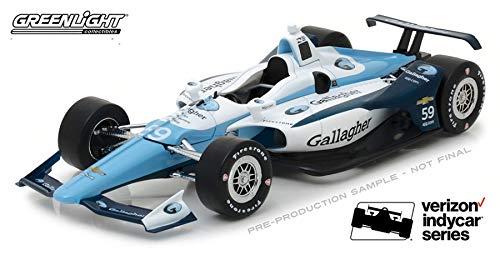 GREENLIGHT 11035 2018 #59 MAX CHILTON GALLAGHER IZOD INDY 500 RACE CAR 1:18
