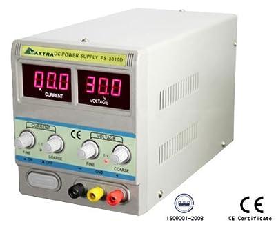Maxtra Digital DC Power Supply 30V 10A Precision Variable Adjustable Lab Grade