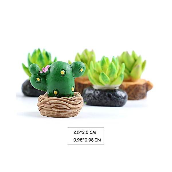 dreamm miniature succulent cactus potted ornaments 8 pcs mini simulation resin plant flowerpots diy doll house garden decoration accessories