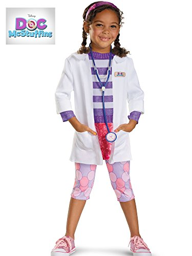 Disney Doc McStuffins Doc Deluxe Girls Costume, Medium/7-8