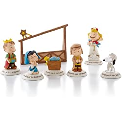 Hallmark Exclusive 2012 Peanuts Gallery Nativity Figurines - Set of 7 - #XKT1037 by Hallmark