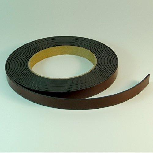 Magnetklebeband - Selbstklebendes Magnetband 12,7mm x 1,5mm, 5m Rolle
