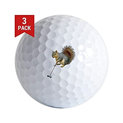 CafePress - Golfing Squirrel - Golf Balls (3-Pack), Unique Printed Golf Balls