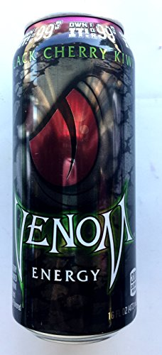 Venom Energy Drink - Black Cherry - 16fl.oz.(Pack of 16)