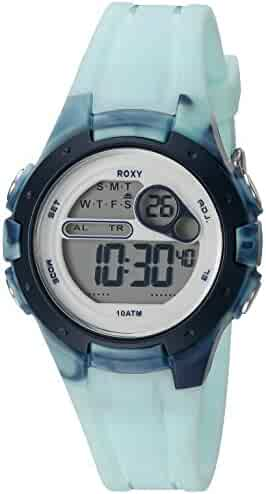 f7c51ddac0 Roxy Women s RX 1014LBBL THE TOUR Blue Digital Chronograph Strap Watch