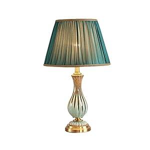 FengLing Lampe de Table cuivre céramique Lampe de Table pour Salon Chambre à Coucher Lampe de Chevet décorée Lampes à…