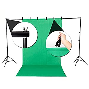 Photo Studio Photography Continuous Lighting Kit Non-woven fabrics Backdrop Set