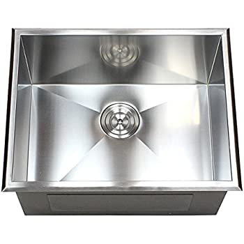 23 Inch Top Mount Drop In Stainless Steel Single Bowl