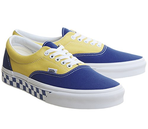 adulte Vans mixte Era Checkerboard yellow U mode true Bmx Baskets Blue wfxqaC7