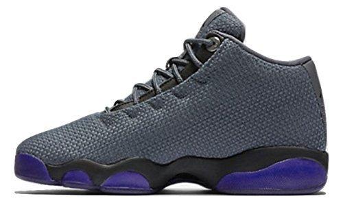 (NIKE Air Jordan Horizon Low BG Basketball Trainers 845099 Sneakers Shoes (5 M US Big Kid, Dark Grey Black 002))