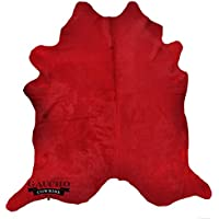 SALE - Solid Red Dyed Natural Cowhide & Extra Large Gaucho Cowhide