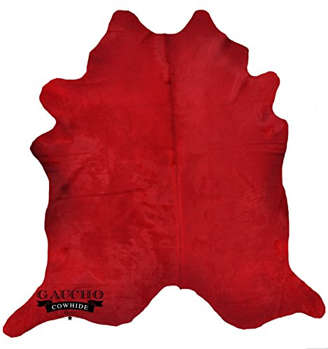 (Gaucho Cowhides Sale - Solid Red Dyed Natural Cowhide & Extra)