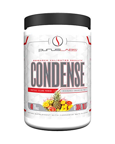 Purus Labs Condense Endurance Enhancing Pre Workout Tropical Island Punch with Carnosyn Beta Alanine (40 Servings)