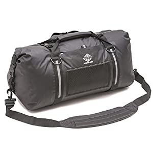 Aqua Quest White Water Duffel - 100% Waterproof Dry Bag Duffel Bag - 50 L, Lightweight, Durable, Comfortable, Versatile - Black