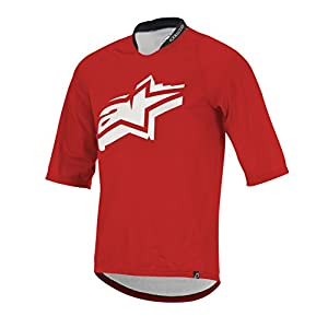 Alpinestars Men's Totem 3/4 Sleeve Jersey, Red/White, Medium