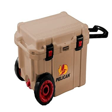 Pelican Products ProGear Elite Wheeled Cooler, Tan, 45 quart