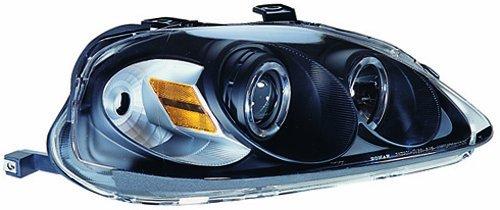 IPCW CWS-730B2 Honda Civic 1999-2000 Head Lamps, Projector With Rings Black B006BUS3XO