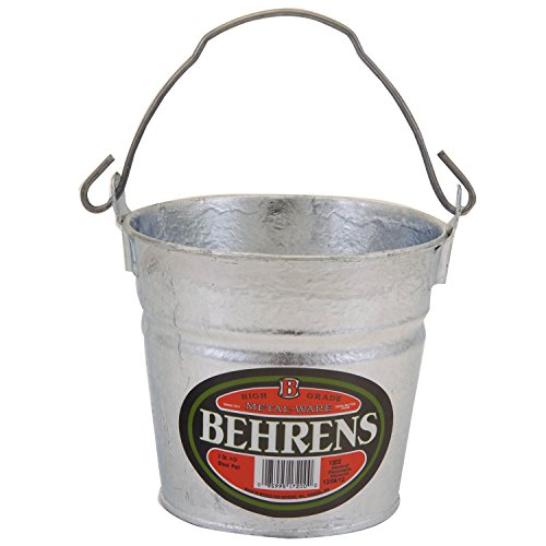 Behrens 1202 2-Quart Hot Dipped Steel Pail -
