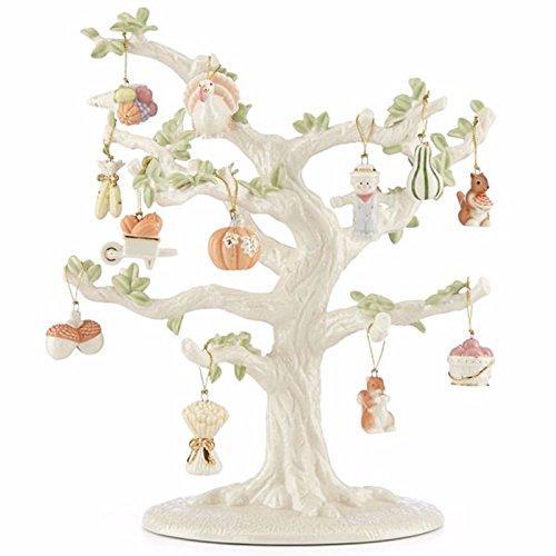 Lenox Thanksgiving Miniature Tree & 12 Ornaments Turkey