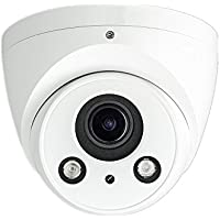 Dahua OEM 8MP IR Eyeball Network Camera, H.265+, 2.7-12mm Motorized Lens Outdoor Vandal and Weatherproof 164FT IR Night Vision, PoE