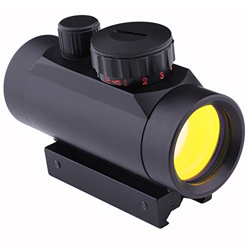 AutumnFall Monoculars Telescope,1x40 Tactical Holographic Riflescopes Red Green Dots Switched Optical Sight Scope Adjustable Scope (Black)