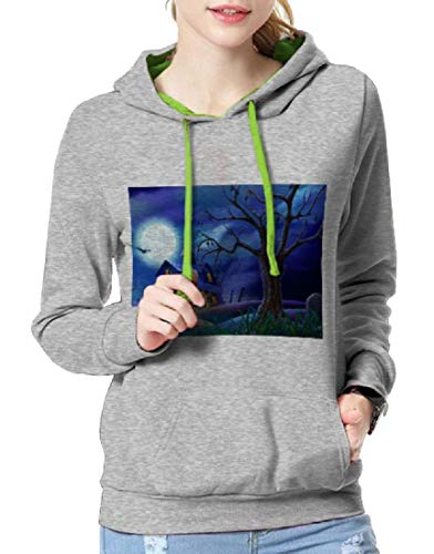 Tootless-Women Longline Relaxed-Fit Halloween Costume Juniors Hoodies Grey L ()
